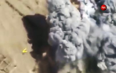 Видео ударов ВКС России по объектам террористов ИГ в Сирии