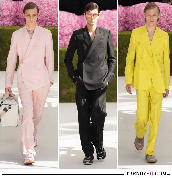Мужские костюмы из коллекции Dior Homme SS 2019