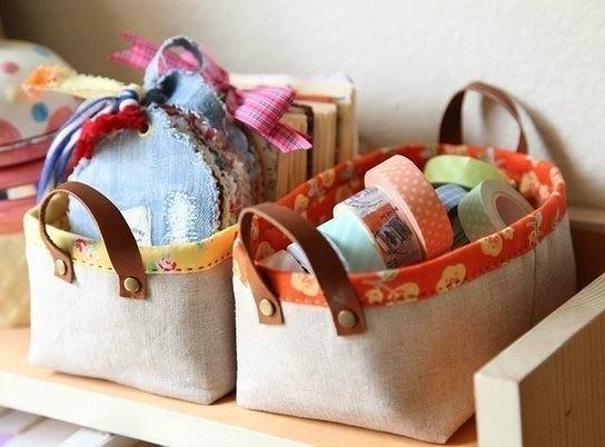 Корзиночки для мелочей своими руками. handmake,мастер-классы,поделки своими руками,полезные советы,разное,сумки,шитье