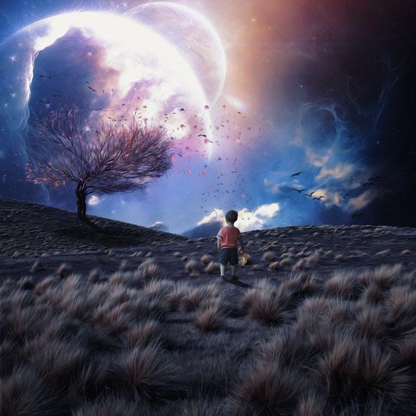 Создаём в Фотошоп сказочный пейзаж из снов