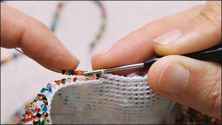 Вязание с бисером, простой МК