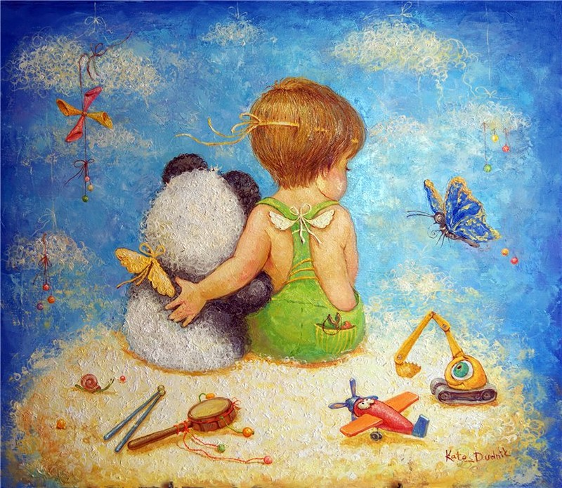 Картинки. открытки, счастливое детство открытка