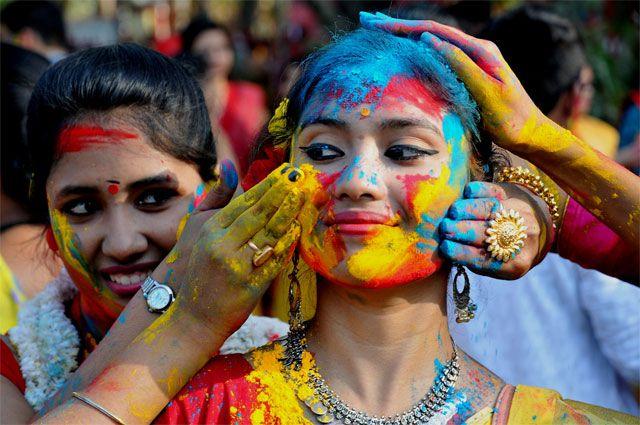 Праздник красок в Индии