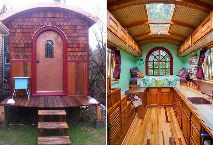 Компактные домики, площадь которых меньше бытовки