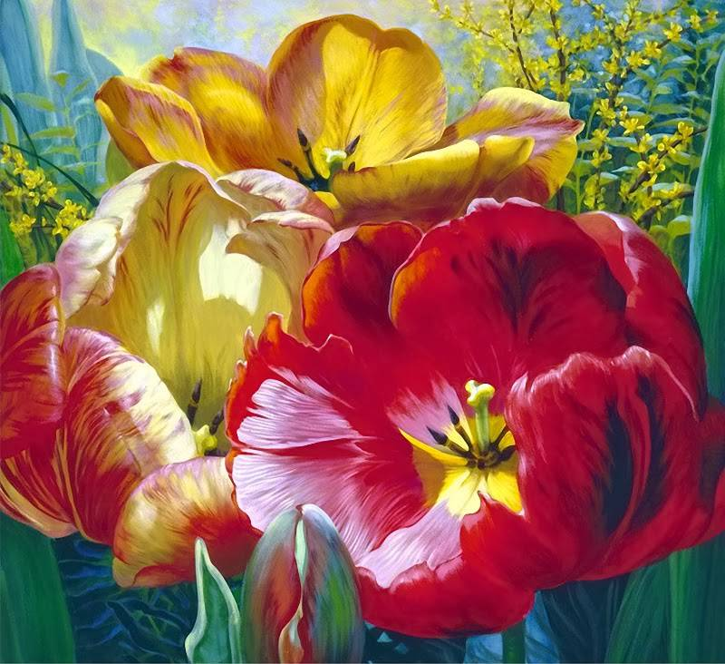 Цветочная акварель Elizabeth Horning