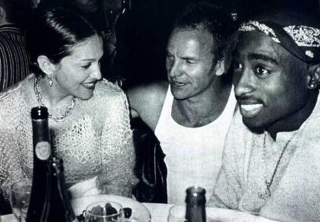 Мадонна, Стинг и Тупак отдыхают вместе