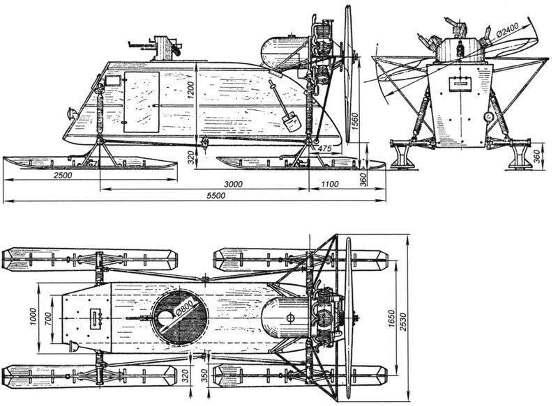 Рассказы об оружии. Аэросани НКЛ-26 аэросани НКЛ-26, рассказы об оружии, страницы истории