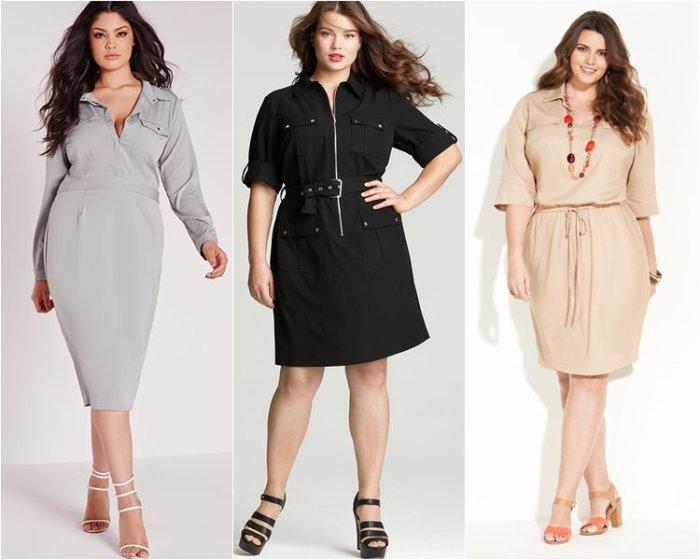 Стильные платья для полных женщин. \ Фото: google.ru.
