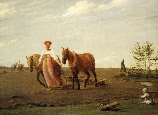 На пашне. Весна, 1820-е