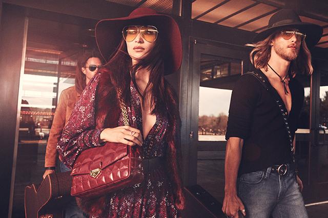 Рок-звезда 70-х: Белла Хадид примерила новый образ в рекламной кампании Новости моды