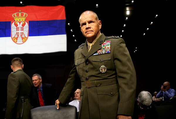Как сербский офицер генерала…