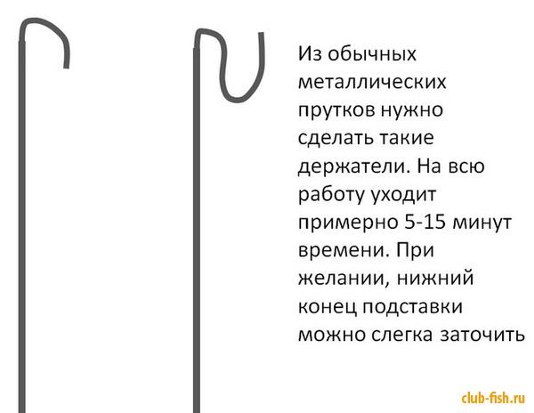 Новичкам: Подставка для удочки