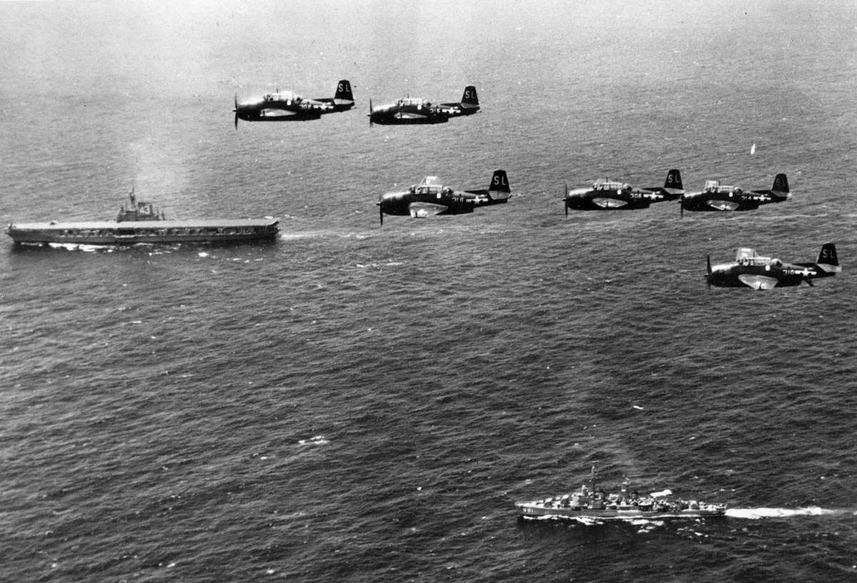 Бомбардировщики-торпедоносцы Grumman TBF Avenger / ©Wikimedia Commons