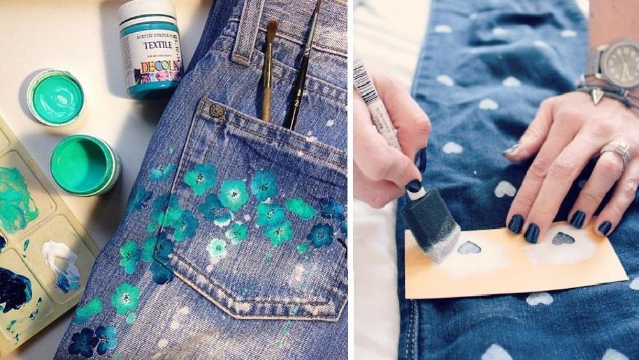 Декорируем джинсы акрилом: стирка этим краскам не страшна