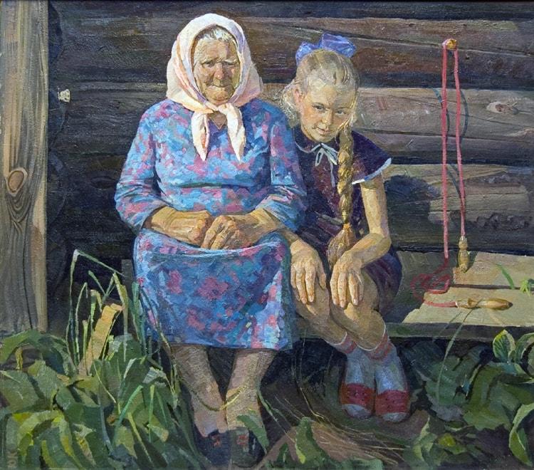 Художник Юрий Кузякин. Золото детства Живопись