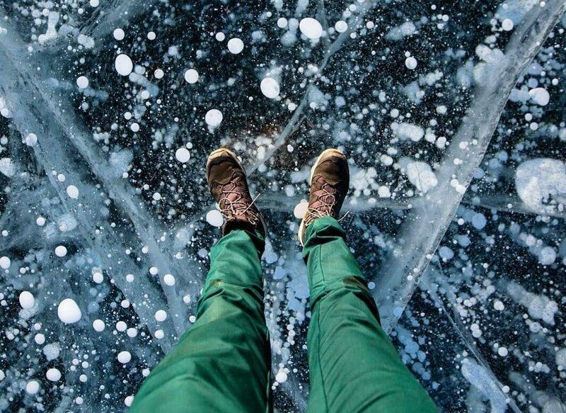 Российский фотограф снял удивительные ледяные узоры Байкала vadim mahorov, байкал, красота, природа, узор, фото, фотограф