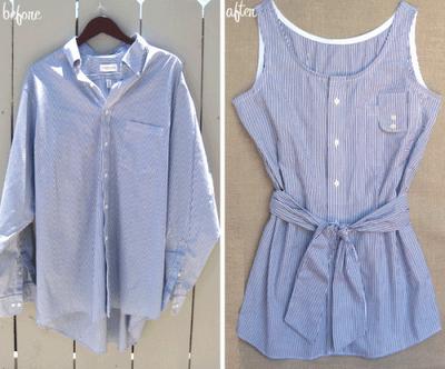 Простые способы создания летних нарядов из старых рубашек