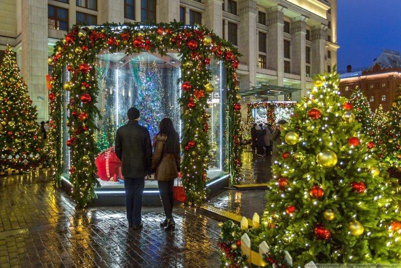 Прогулка по центру новогодней Москвы красиво, красота, москва, новый год, праздник, рождество, столица, фотография