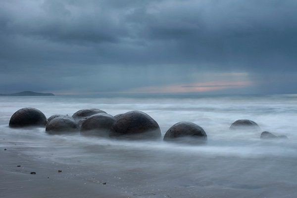 4. Валуны Моераки, Новая Зеландия красота, мир, природа