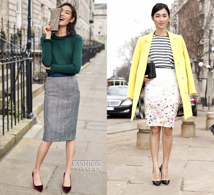 С чем носить юбку-карандаш и выглядеть модно фото №6