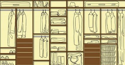 Как обустроить гардеробную: …