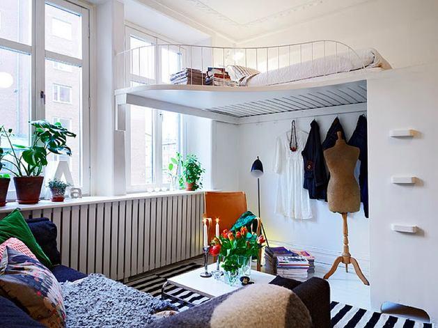 Мебель и предметы интерьера в цветах: голубой, черный, серый, светло-серый. Мебель и предметы интерьера в стиле скандинавский стиль.