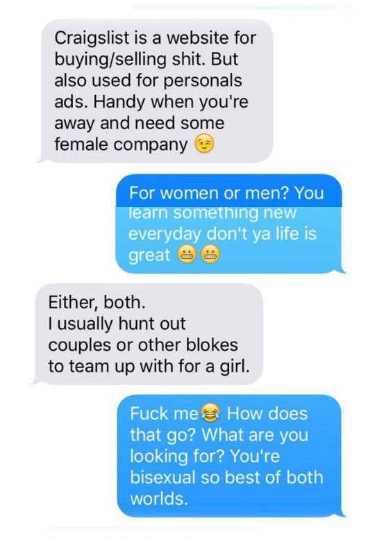 Guy Looking For A Craigslist Threesome Accidentally Texts