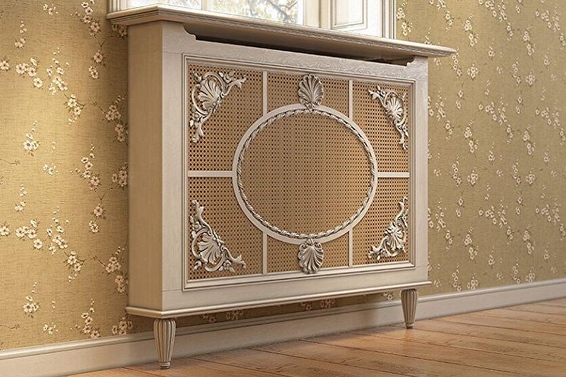 Экраны для батарей отопления - фото