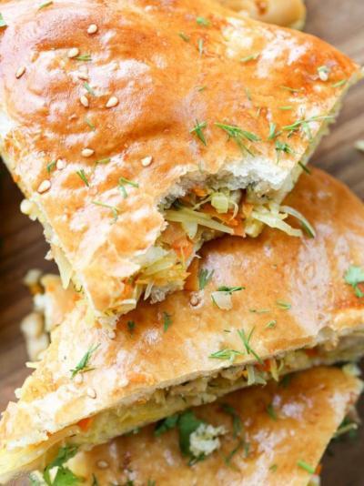 Пирог с капустой и с курицей: рецепты приготовления
