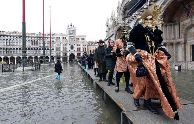 Аква альта в Венеции