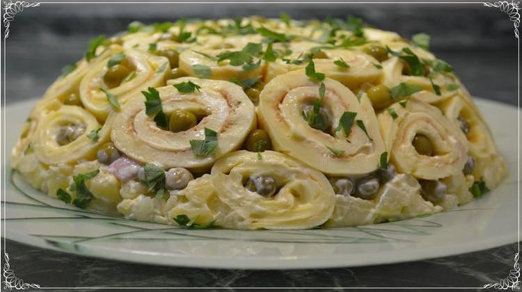 Праздничный вкусный салат «Ш…