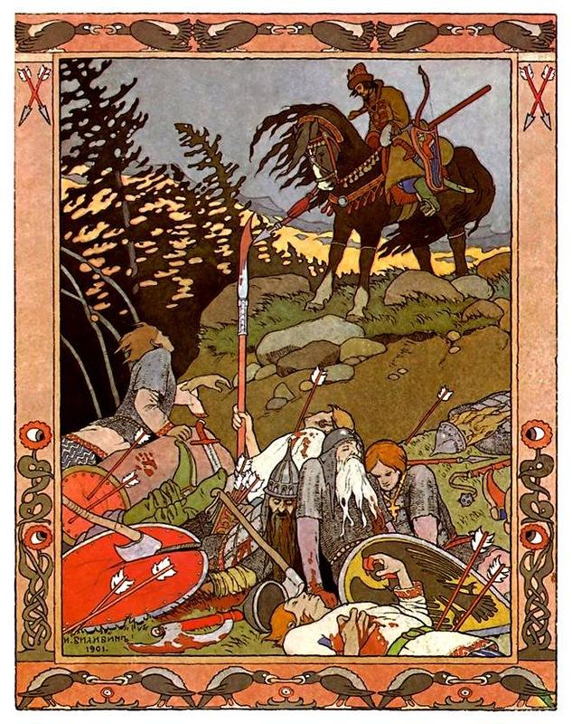 очень сборник русских сказок с иллюстрациями билибина степи