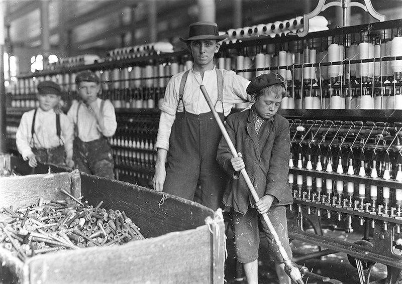 Lewis Wickes Hine - Текстильная фабрика в Ланкастере, штат Пенсильвания, 1 декабря 1908 года Весь Мир в объективе, история, фотография