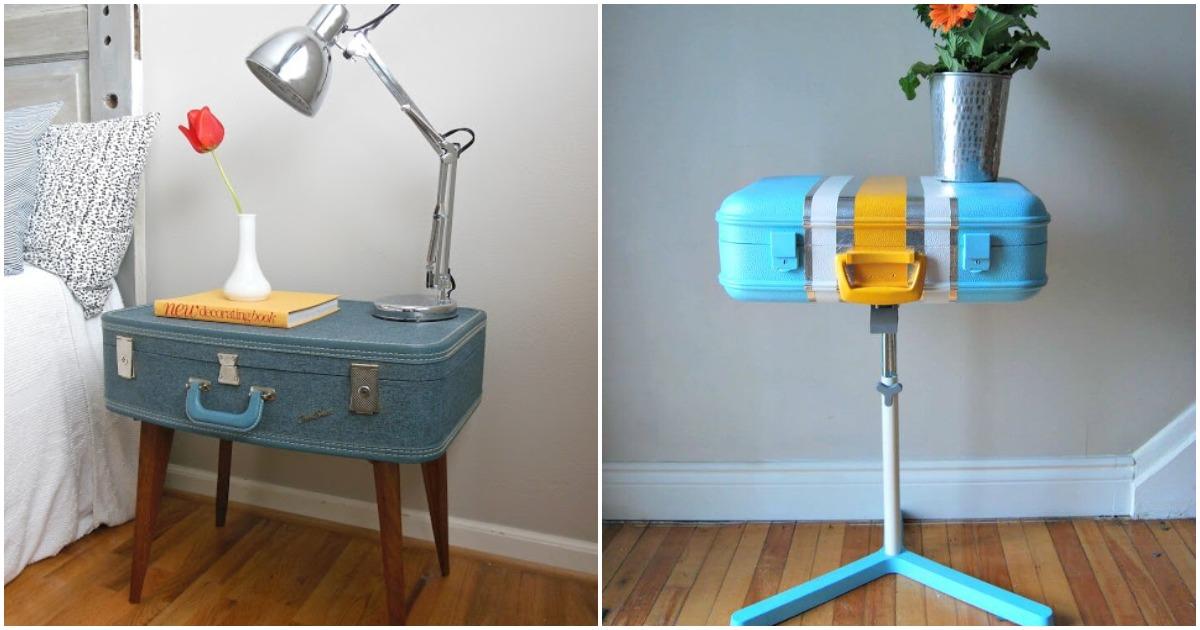 Простые способы использования старых чемоданов в декоре