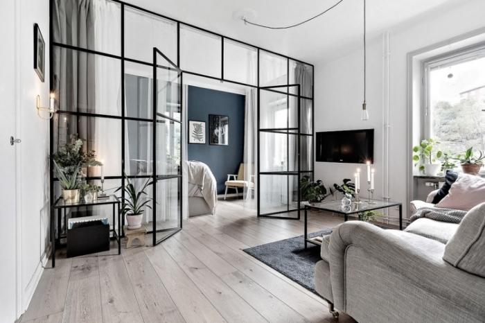 Современные идеи дизайна квартиры-студии.