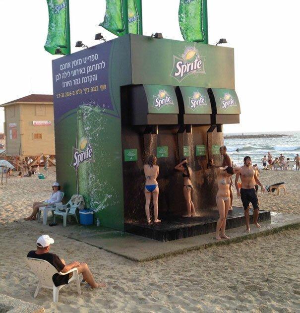 Креативная реклама Вот это ДА, забавно, находки, неожиданности, пляжи, смешно, странные вещи, удивительное рядом