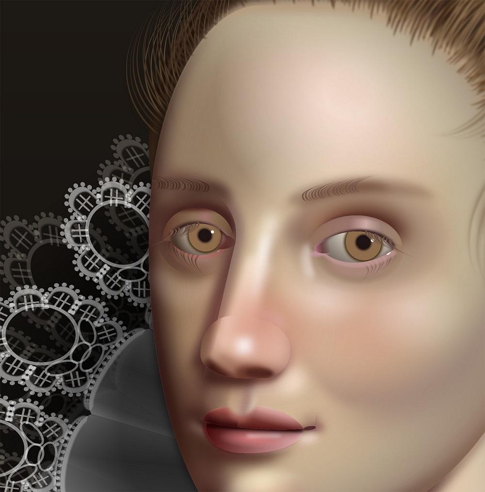 Рисование с помощью кода: Диана Смит создает портреты в стиле барокко с помощью CSS