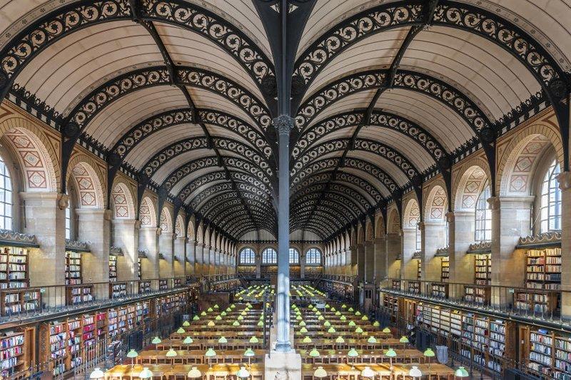 1. Библиотека Святой Женевьевы, Париж, Франция архитектура, библиотека, библиотеки, библиотеки мира, красота, путешествия, фотограф, фотопроект