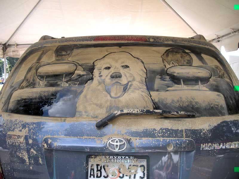 такого прикольные рисунки на стекле авто растает, словно
