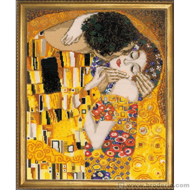 """Ищу схему: Густав Климт """"Поцелуй"""""""
