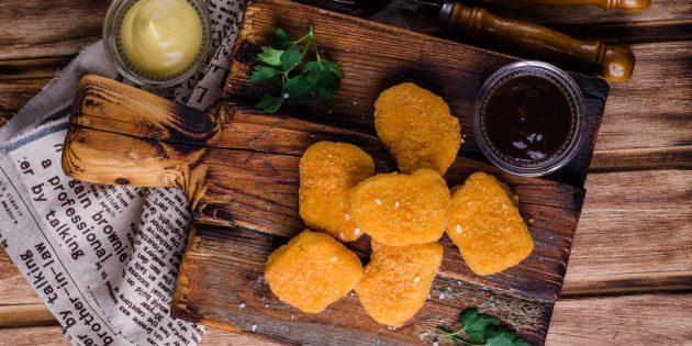 Куриные наггетсы в сырной панировке