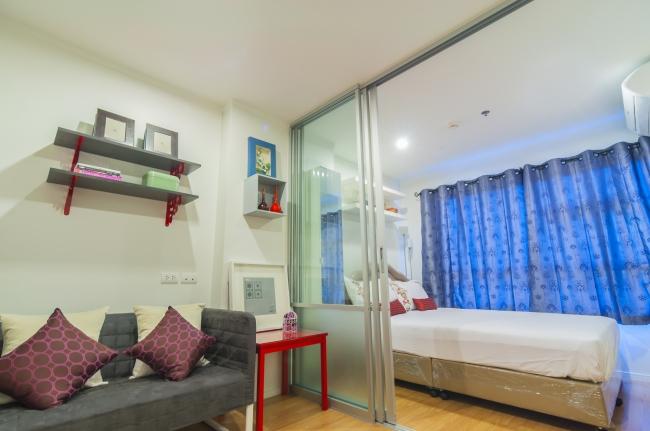 Обустройство спальни гостиной в одной комнате 27