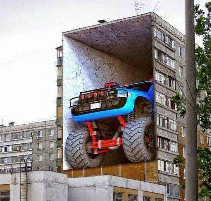 Реалистично до невозможности уличное искусство