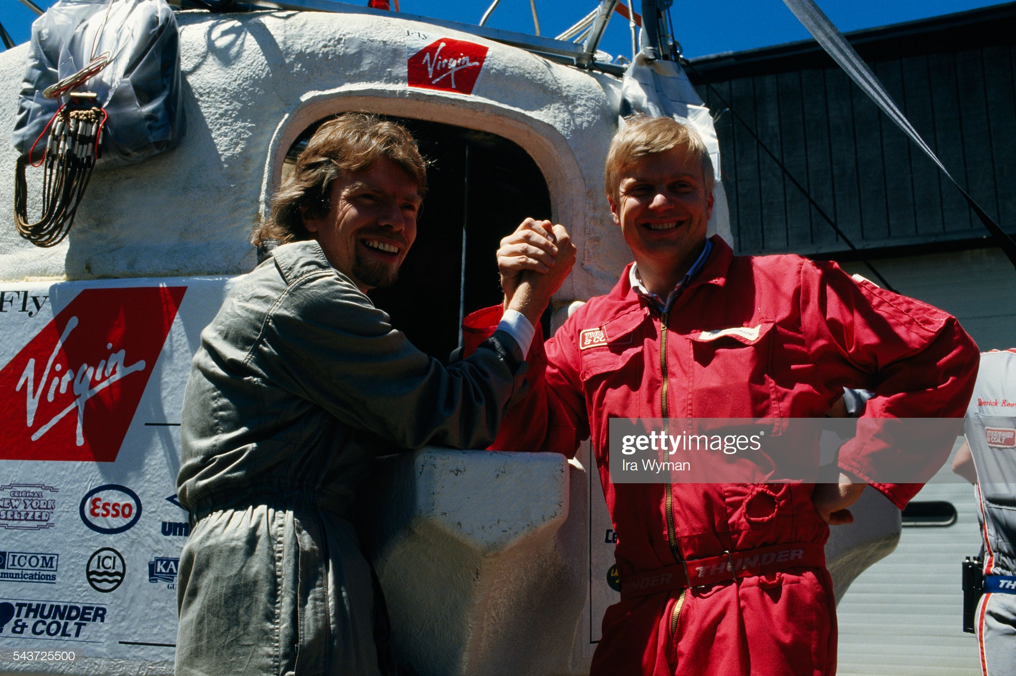 First Atlantic Crossing by Hot Air Balloon : News Photo