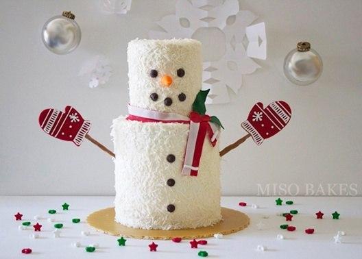 Тортики-снеговички. Идеи