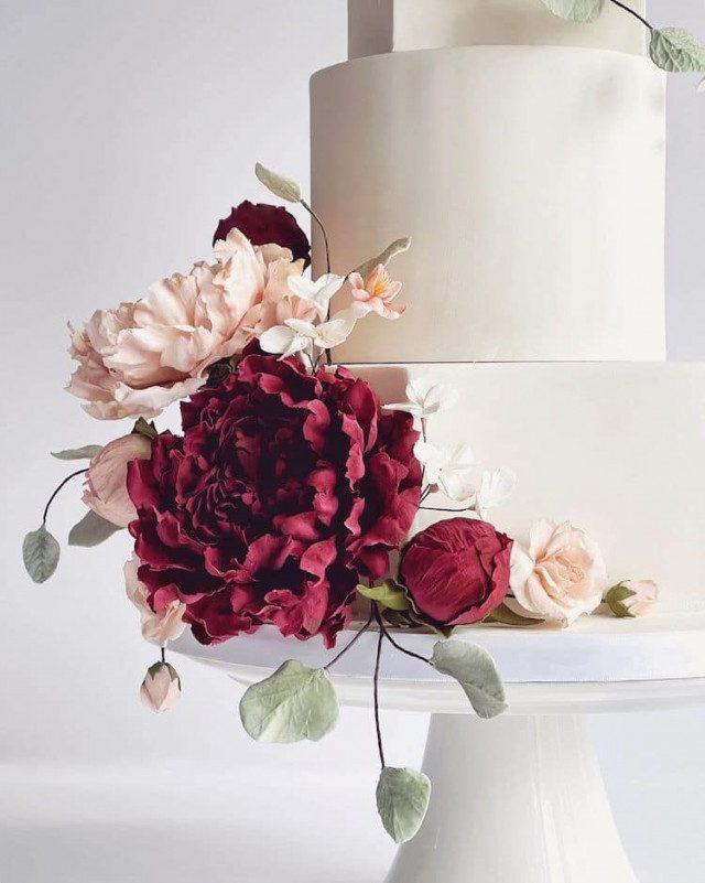 Невероятные сахарные цветы, похожие на настоящие десерты,идеи и вдохновение