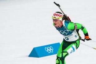 Женская сборная Белоруссии по биатлону выиграла золото ОИ-2018 в эстафете