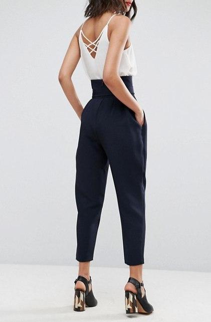 Укороченные брюки, зауженные книзу, с высокой посадкой и широким поясом Брюки (жен,) летние,одежда,рукоделие,сделай сам