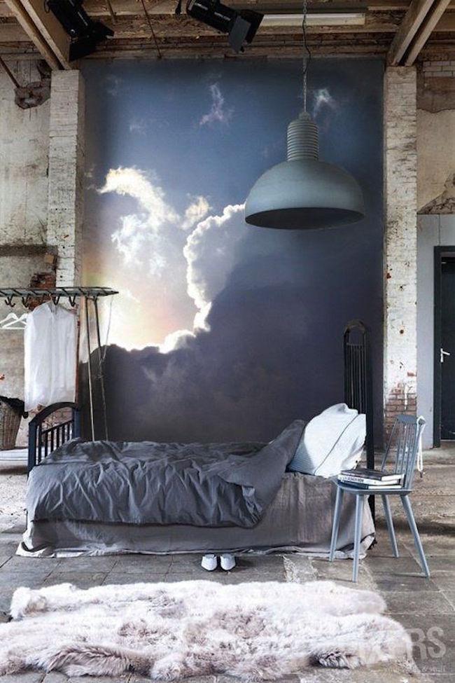 Облака в интерьере - фрески в дизайне