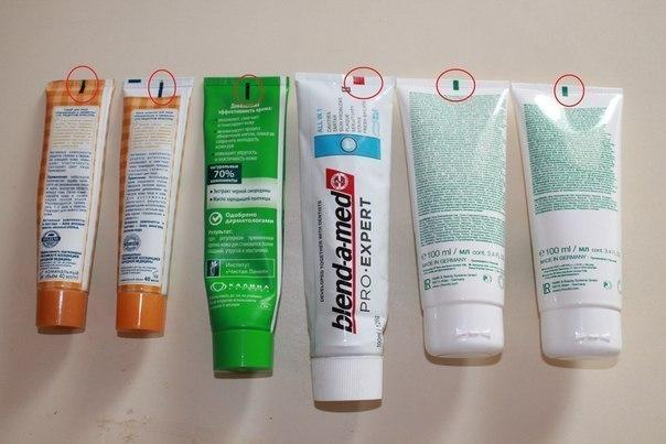 Цветные полоски на кремах что означают. Что означает полоска на тюбике с зубной пастой? Мифы о значении цвета тюбиков